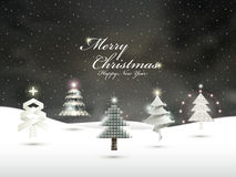 Various Christmas trees Stock Images