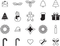 Various christmas vector signs. On white background Royalty Free Stock Image