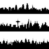 Various city skylines Stock Photo