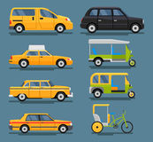 Various city urban traffic vehicles icons Stock Photos