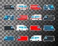 Various city urban traffic vehicles Stock Photo