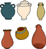 Various Clay Vases Stock Photography