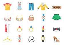 Various Clothing and Accessory Themed Graphics Royalty Free Stock Photo
