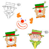 Various clowns - vector Stock Images