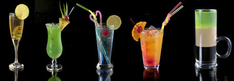 Various cocktails stock photography