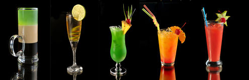 Various cocktails stock photo