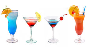 Various cocktails at the bar royalty free stock photography