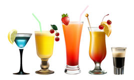 Various cocktails Royalty Free Stock Image