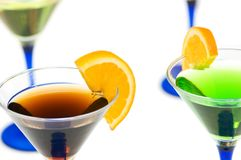 Various cocktails isolated Royalty Free Stock Photography