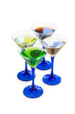 Various cocktails isolated Stock Photo