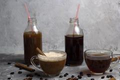 Various of  coffee drinks Stock Image
