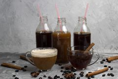 Various of  coffee drinks Royalty Free Stock Image