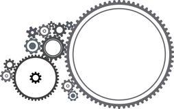 Various cogwheels. Illustration on white background Royalty Free Stock Photos