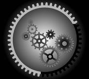 Various cogwheels, Royalty Free Stock Images