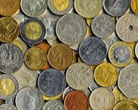 Various coins Stock Images