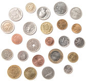Various coins Stock Photo