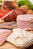 Various Cold Cut Meats Royalty Free Stock Images