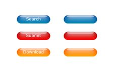 Various color aqua-buttons Royalty Free Stock Images