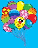 Various color balloons. Vector illustration Stock Image