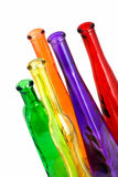 Various color bottle on the white Stock Image