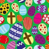 Various color Easter eggs design seamless pattern Stock Photo