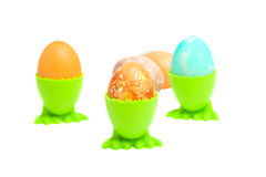 Easter eggs over white Stock Photography