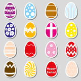 Various color Easter eggs stickers collection Royalty Free Stock Photo