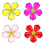Various color of flower vector Stock Photography