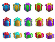 Various Color Gift Boxes Royalty Free Stock Images