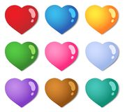 Various color hearts collection 1 Stock Photography