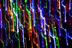 Various color light lines in motion Stock Photography