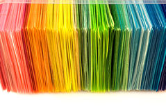 Various color paper Stock Image