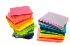 Various color paper. Various color of paper isolated on white background royalty free stock photography