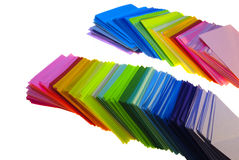 Various color paper Royalty Free Stock Photography