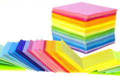 Various color paper Royalty Free Stock Image