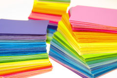 Various color paper Stock Photos
