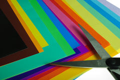 Various color paper Stock Photography