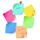 Various color paper note Stock Photos