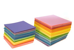 Various color paper stock Royalty Free Stock Image