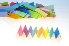 Various color paper stock Royalty Free Stock Photos