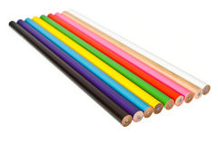 Various of color pencil. On isolated white Royalty Free Stock Images