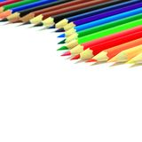 Various color pencils. On white background royalty free stock photography