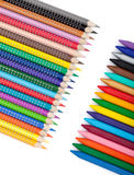 Various color pencils and markers Royalty Free Stock Image