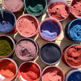 Various color pigments Stock Photos