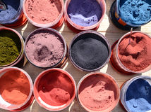 Various color pigments Royalty Free Stock Images