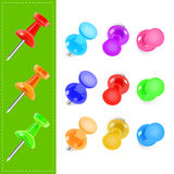 Various color pin. Illustration of various color pin Royalty Free Illustration