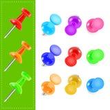 Various color pin Stock Photos