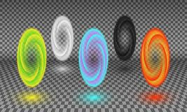 Various color portals isolated on transparency background royalty free stock photo