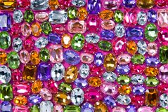 Various color shiny gems Stock Image