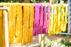 Various color silk prepare for weaving Stock Photography